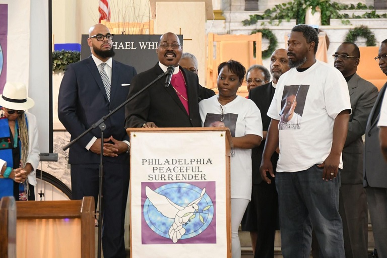 Vigil held for Michael White, Philly Man Who Walked Out of Church and Turned Himself in to Police to Face Murder Charges